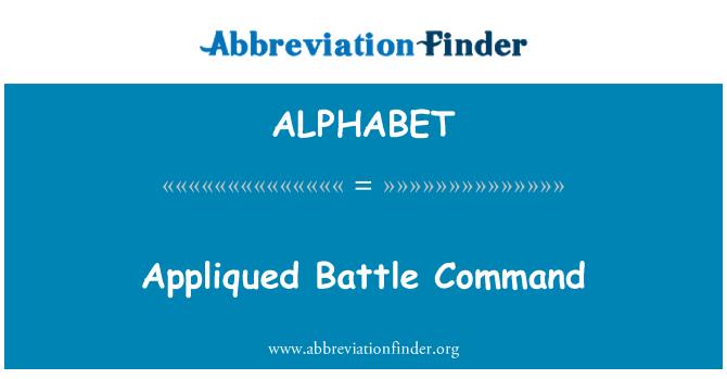 ALPHABET: Appliqued sõtta Command