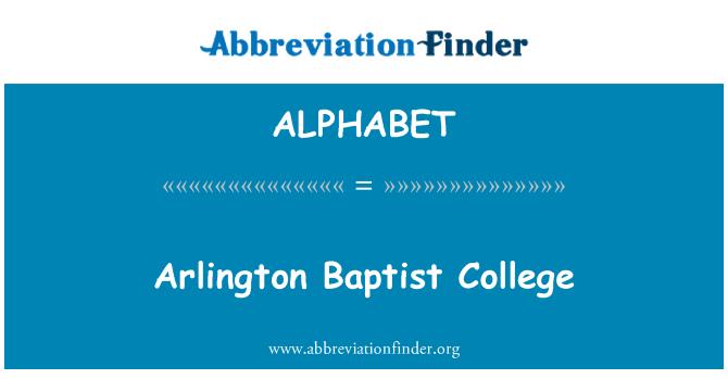 ALPHABET: Arlington Baptist College