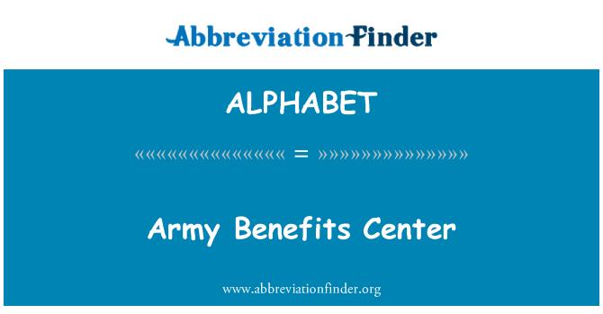 ALPHABET: Armee hüvitiste keskus