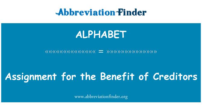 ALPHABET: Asignación en beneficio de los acreedores