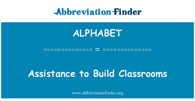 ALPHABET: Asistencia para construir aulas