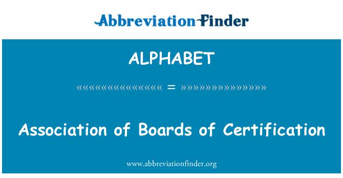 ALPHABET: Asociación de juntas de certificación