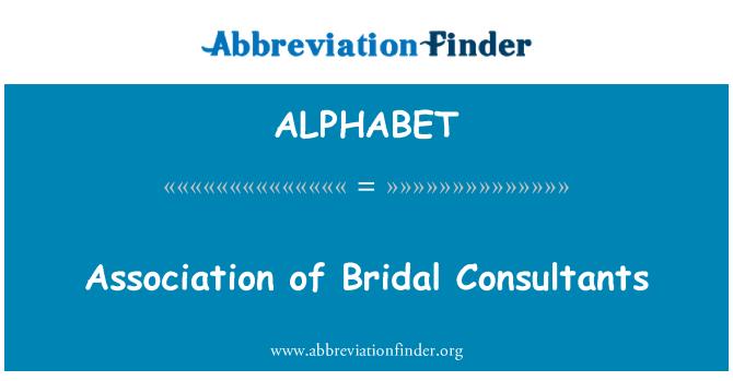 ALPHABET: Asociación de consultores nupciales