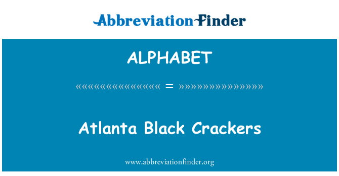 ALPHABET: Atlanta negro galletas