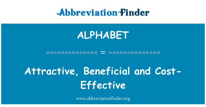ALPHABET: Atractivo, rentable y beneficioso