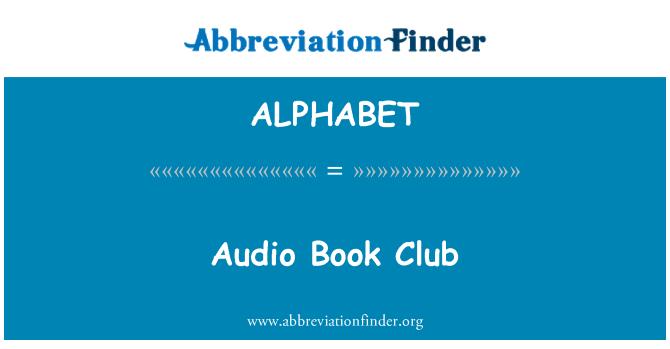 ALPHABET: Audio libro Club