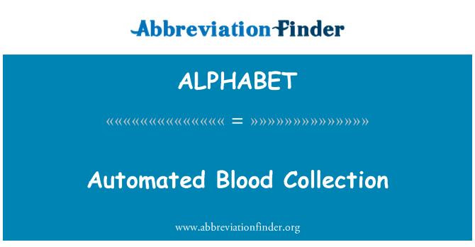 ALPHABET: Coleta de sangue automatizado