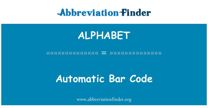 ALPHABET: Código de barras automático