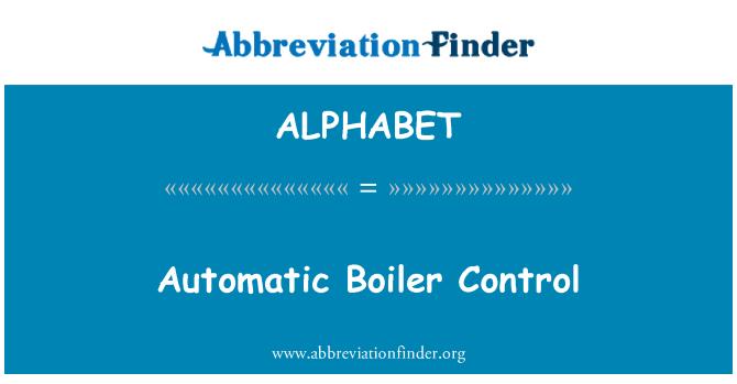 ALPHABET: Control automático de la caldera