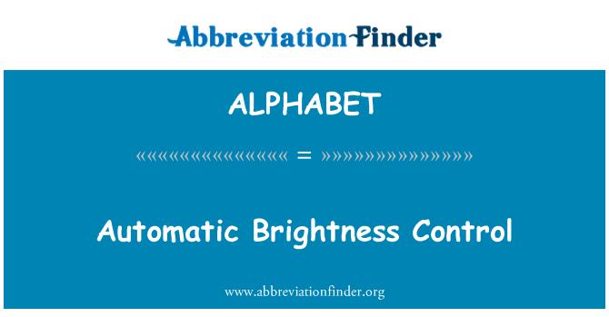 ALPHABET: Control de brillo automático