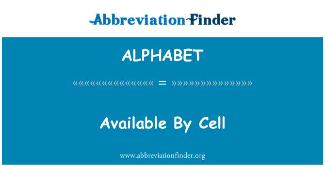 ALPHABET: Disponible por celular