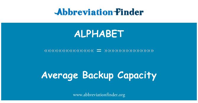 ALPHABET: Capacidad promedio de Backup