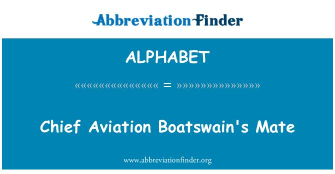ALPHABET: Vyriausiasis aviacijos Boatswain Mate
