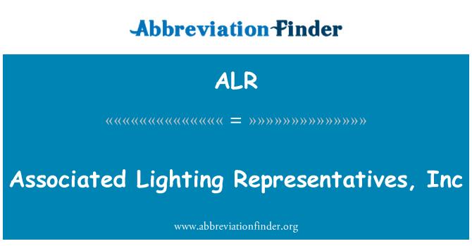 ALR: Associated Lighting Representatives, Inc