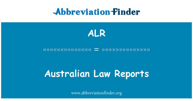 ALR: Australian Law Reports