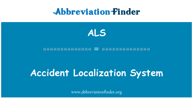 ALS: Accident Localization System