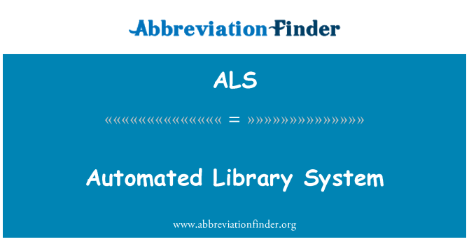ALS: Automated Library System