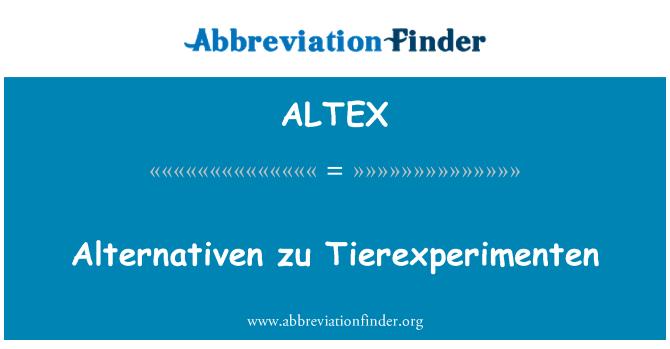 ALTEX: Alternativen zu Tierexperimenten