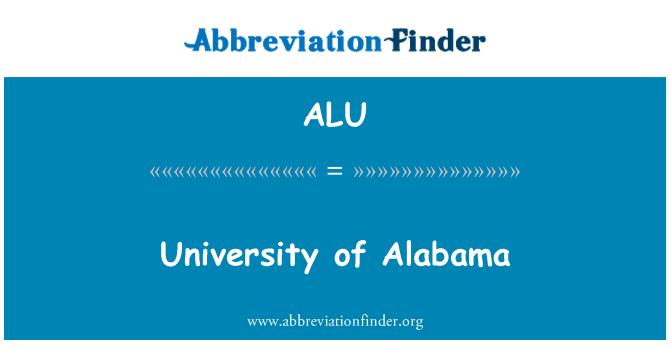 ALU: University of Alabama