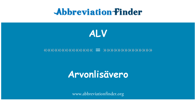 ALV: Arvonlisävero