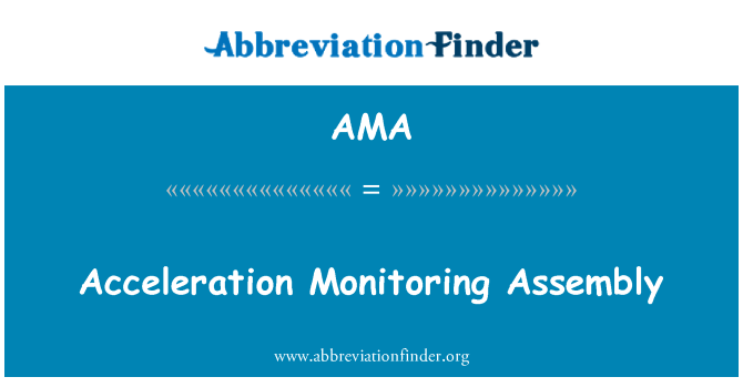 AMA: Acceleration Monitoring Assembly