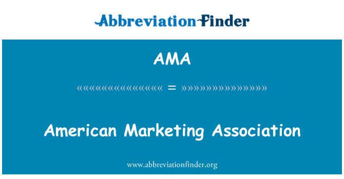 AMA: American Marketing Association