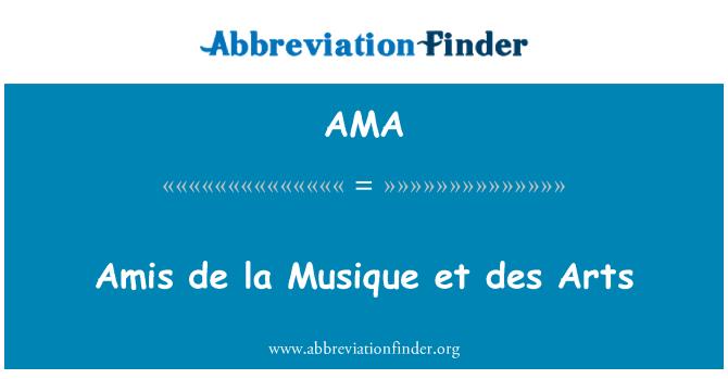 AMA: Amis de la Musique et des Arts