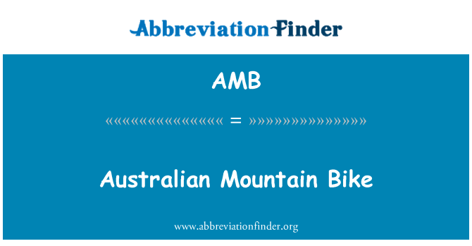 AMB: Australian Mountain Bike