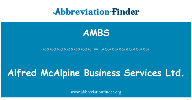 AMBS: Alfred McAlpine Business Services OÜ