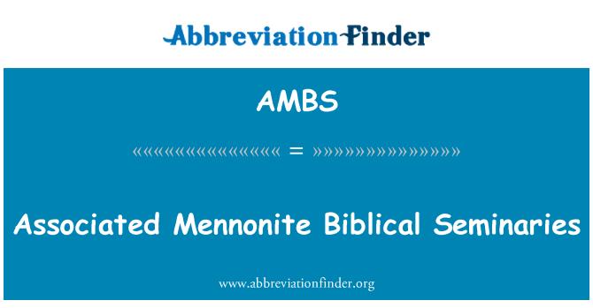 AMBS: İlişkili Mennonite İncille seminerleri
