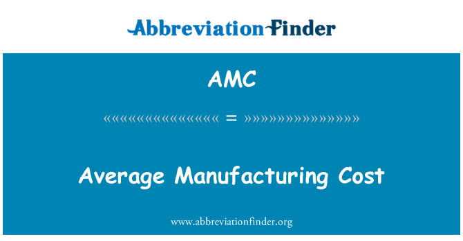 AMC: Average Manufacturing Cost