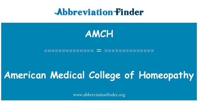 AMCH: 美国医学院校的顺势疗法
