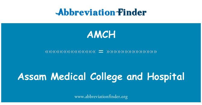 AMCH: 阿萨姆邦医学院和医院