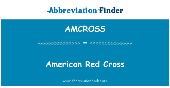 AMCROSS: American Red Cross