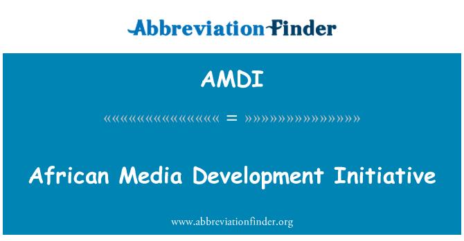 AMDI: Afrika medya geliştirme girişimi
