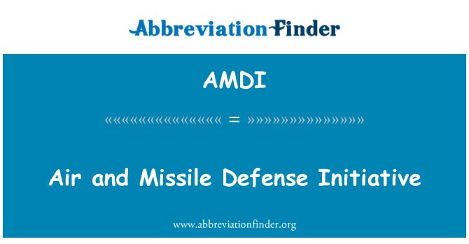 AMDI: Õhu- ja raketitehnoloogia kaitseministeeriumi algatus