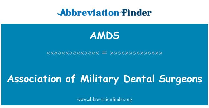 AMDS: Asociación de odontólogos militares