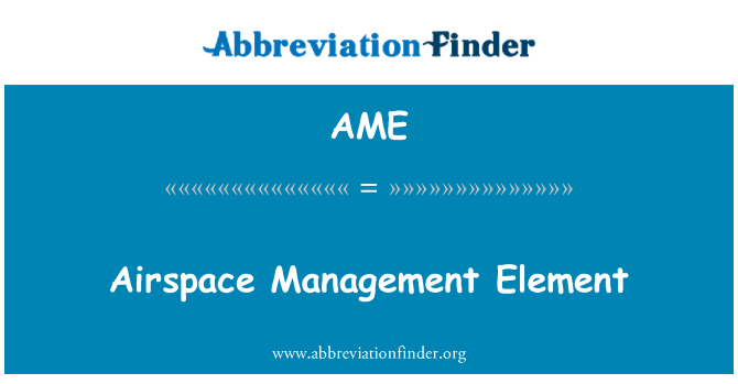 AME: Airspace Management Element