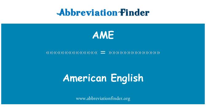 AME: American English
