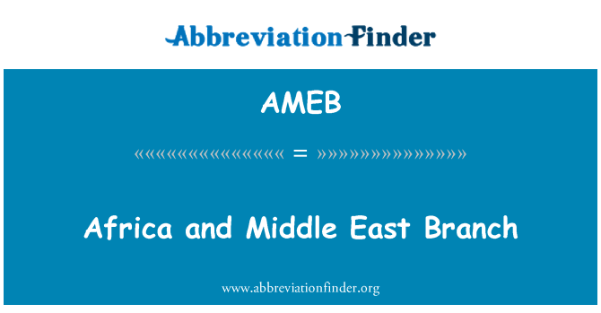 AMEB: Africa and Middle East Branch