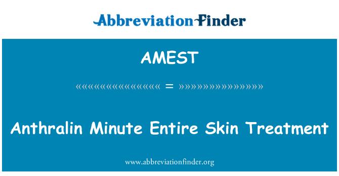 AMEST: Anthralin Minute Entire Skin Treatment