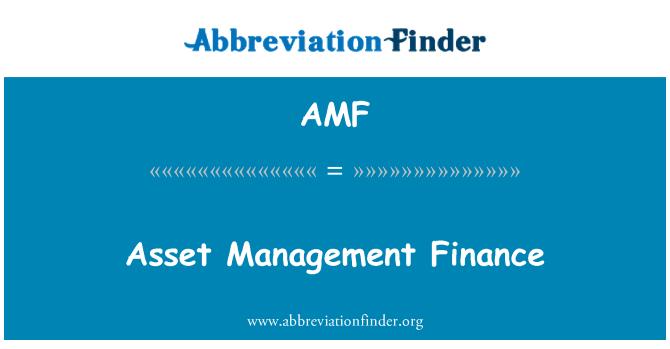 AMF: Asset Management Finance