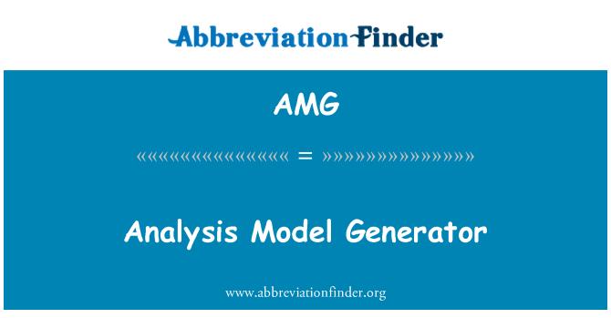 AMG: Analysis Model Generator