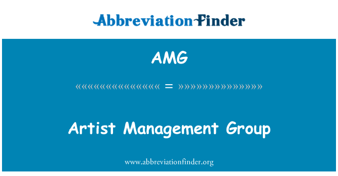 AMG: Artist Management Group