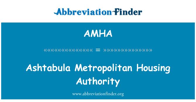 AMHA: Autoridad de vivienda metropolitana Ashtabula