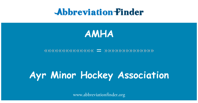 AMHA: Ayr Minor Hockey Association
