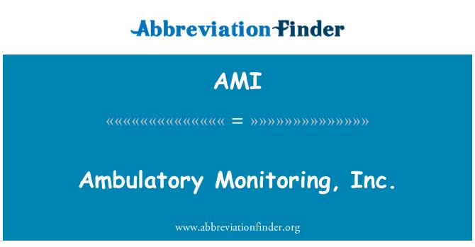 AMI: Ambulatory Monitoring, Inc.