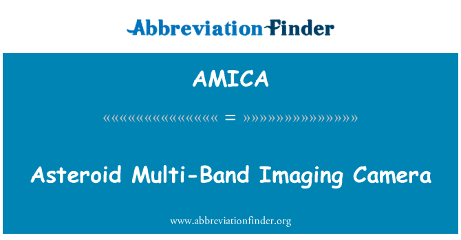 AMICA: Asteroid Multi-Band Imaging Camera