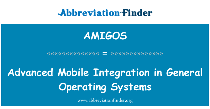 AMIGOS: Advanced Mobile Integration in General Operating Systems