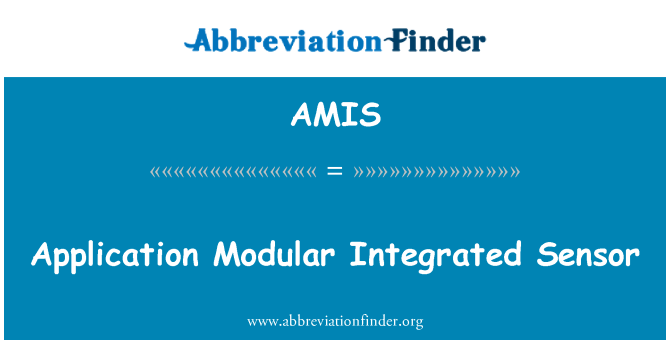 AMIS: Application Modular Integrated Sensor